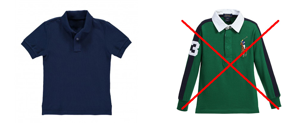 Example of warm-weather polo shirt
