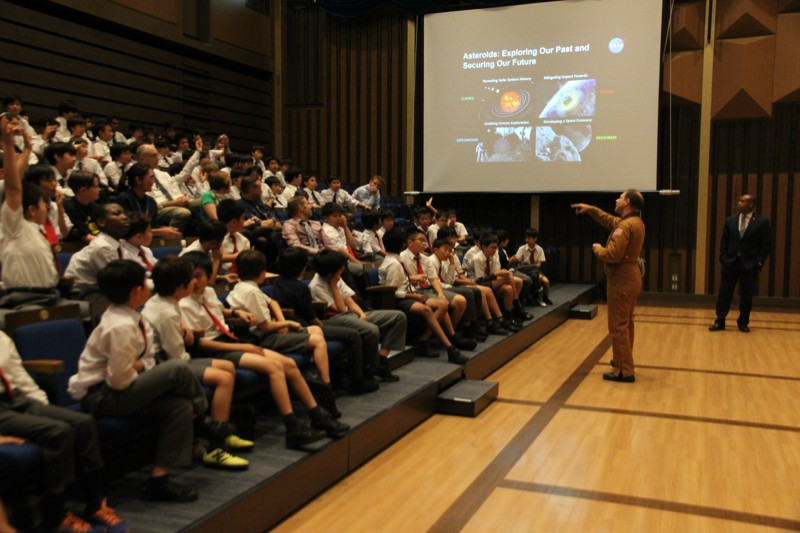 NASA expert, Dr. Paul Abell visits St. Mary's.
