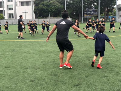 The Ricoh Black Rams Rugby Club ran a Gr. 5 Rugby Clinic