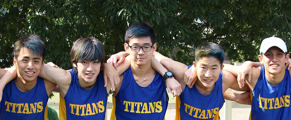 Members of the cross country team