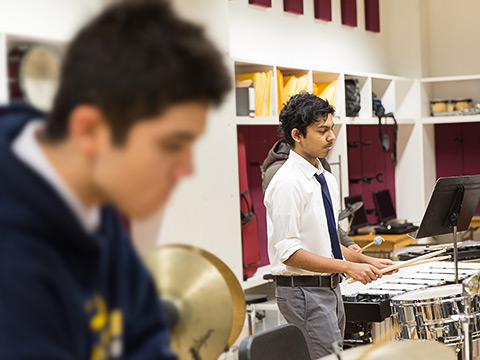 Student percussionists